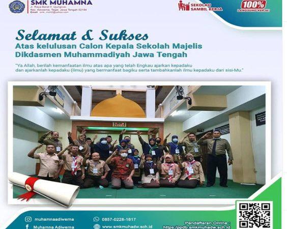 Kelulusan Calon Kepala Sekolah Majelis Dikdasmen Muhammadiyah Jawa Tengah