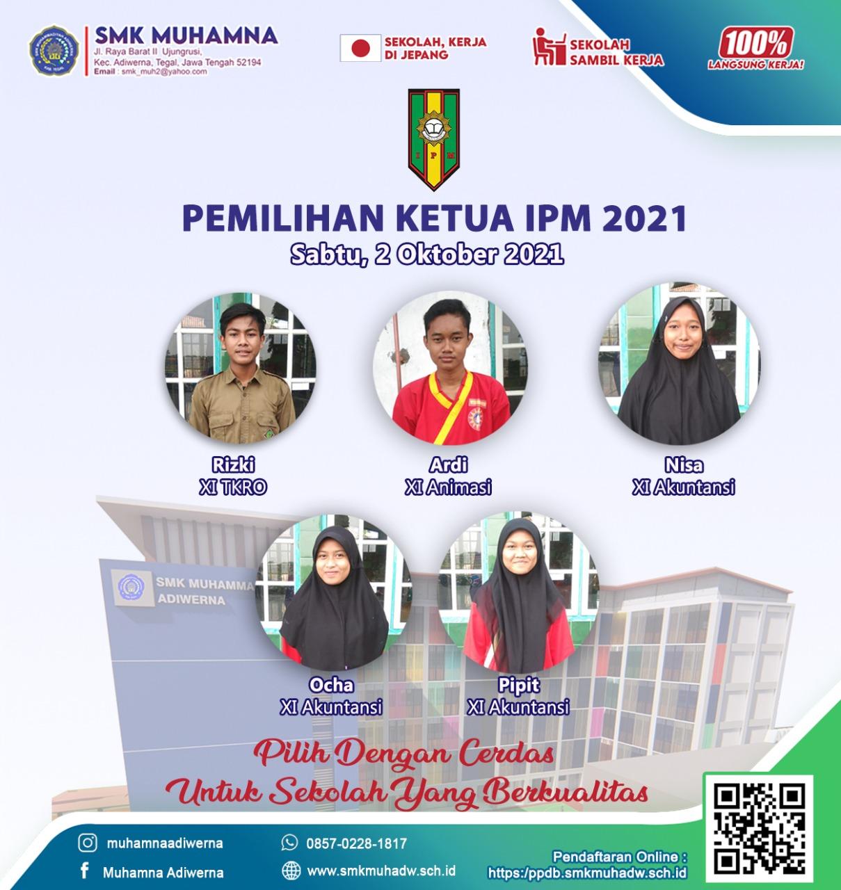 Pemilihan Ketua IPM SMK Muhamna Tahun 2021